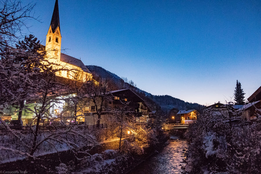 Kirchberg In Tirol alla sera