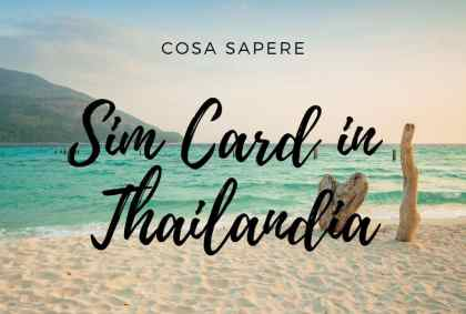 Sim Card in Thailandia