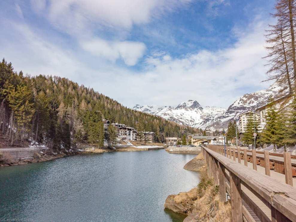 Panorama di Madesimo dalla diga
