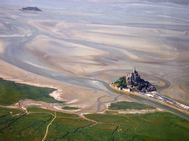 Mont Saint Michel dall'alto