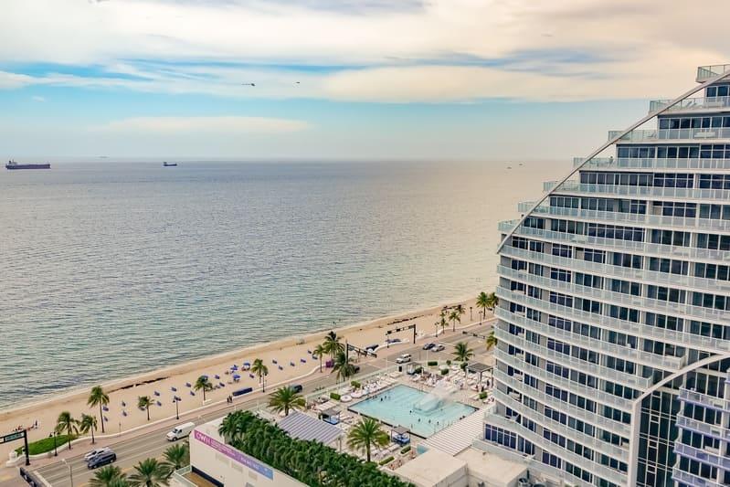 Vista dal Balcone della mia camera a Hilton Beach Resort