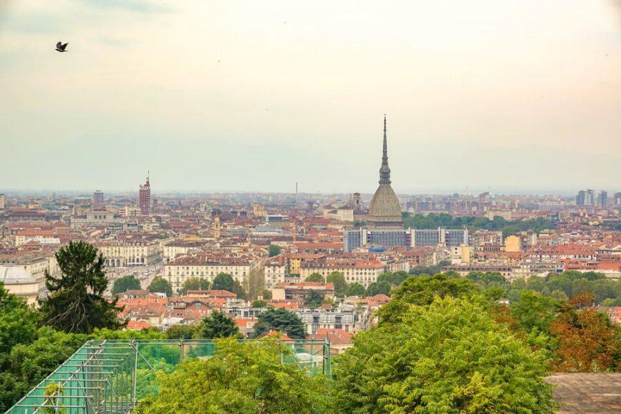 Panorama su Torino da Villa della Regina