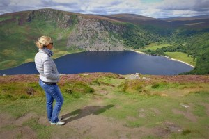 lough tay lago guinnes wicklow mountain ireland