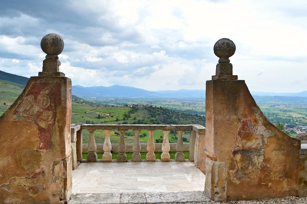 Veduta di Trevi da Villa Fabbri