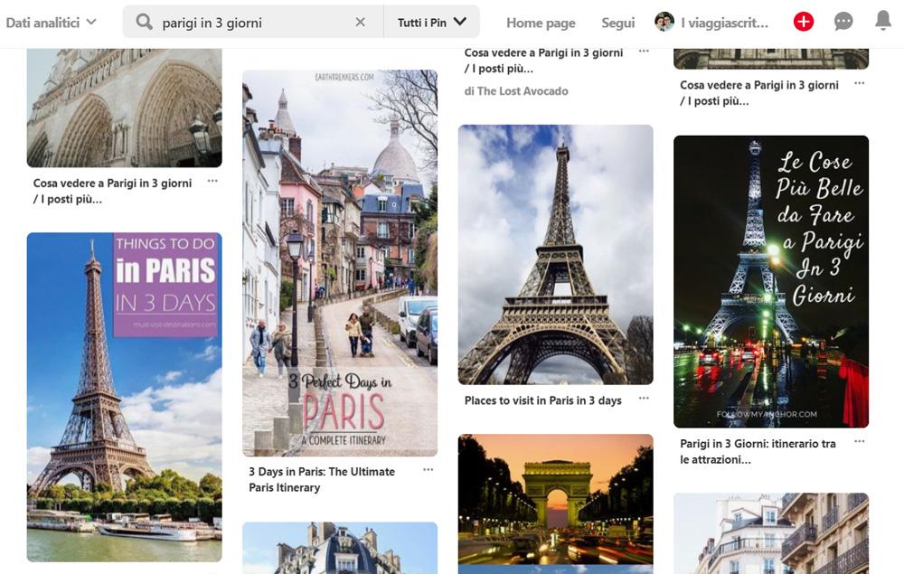 Pinterest come motore di ricerca