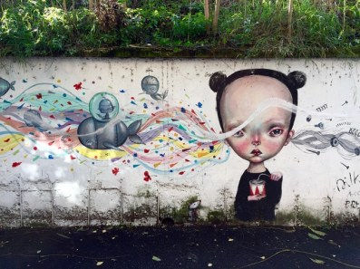 Arte Urbana (Street Art) - Quadraro: Dilka Bear e Paolo Petrangeli