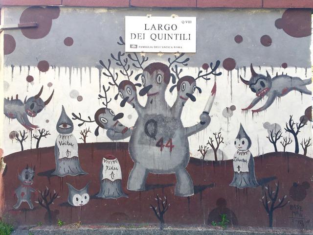Arte Urbana (Street Art) - Quadraro: Gary Baseman - Buckingham Warrior