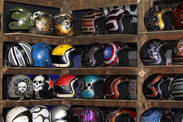 Eternal City Motorcycle Custom Show 2018 Roma 70's Helmets caschi harley davidson