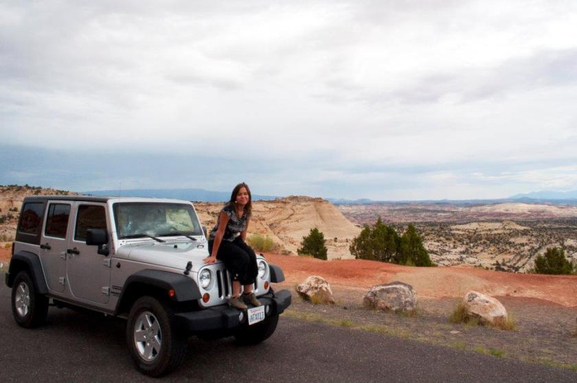 jeep arizona usa on the road