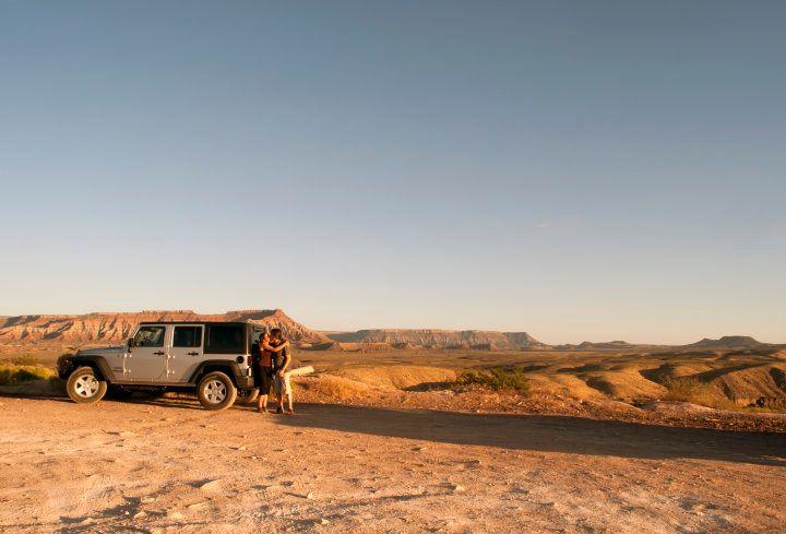 jeep utah usa on the road