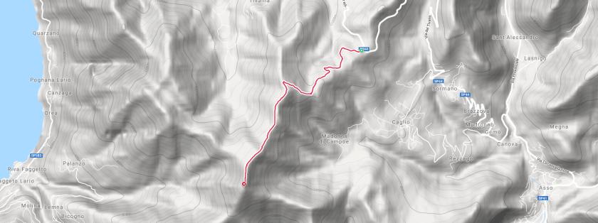 escursione al monte palanzone