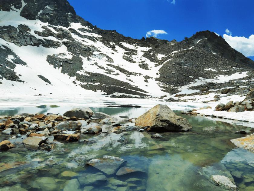 Lago percorso escursione Campo Moro Sondrio