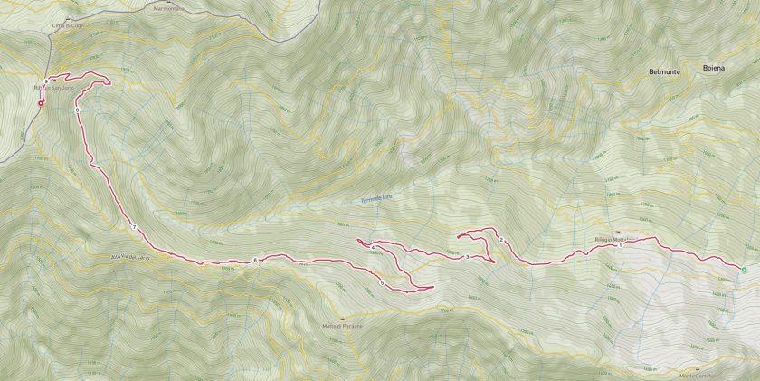 Rifugio San Jorio come arrivare mappa e percorso