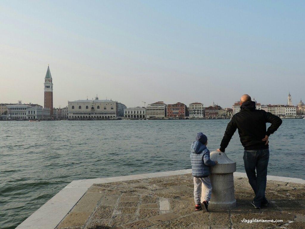 Cosa vedere a Venezia con i bambini in tre giorni - panorama dall'Isola di San Giorgio -