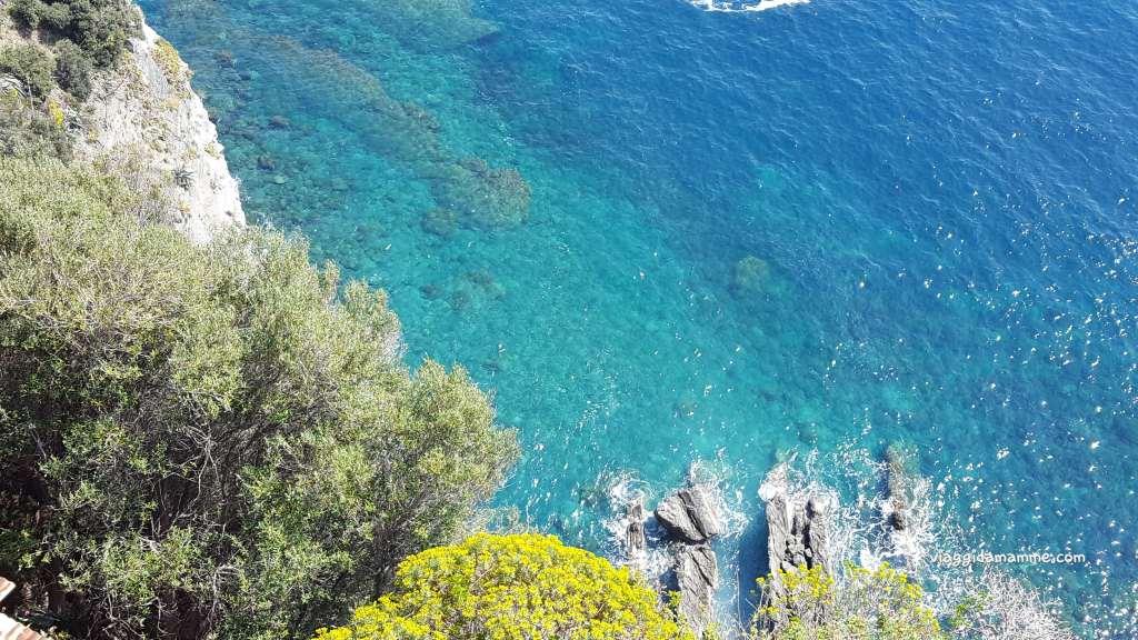 Come visitare le Cinque Terre con i bambini - vista mare da Corniglia-