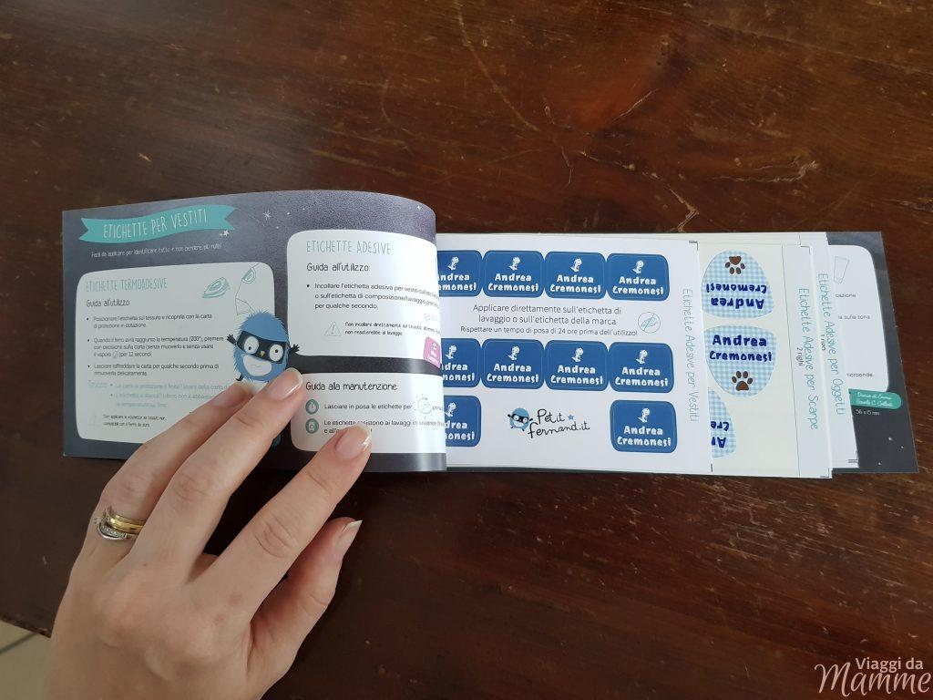 Etichette adesive e termoadesive Petit-Fernand: un aiuto per le mamme - il libretto con le etichette-