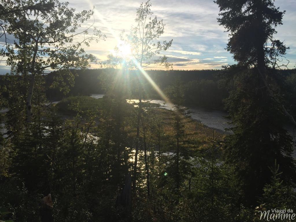 Viaggio in Alaska con bambini in estate: perchè questa terra -panorama dalla casa di Kelly-