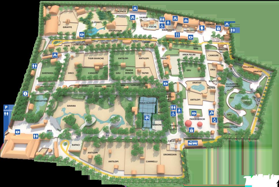 Una giornata a Le Cornelle Parco Faunistico con bambini -mappa parco-