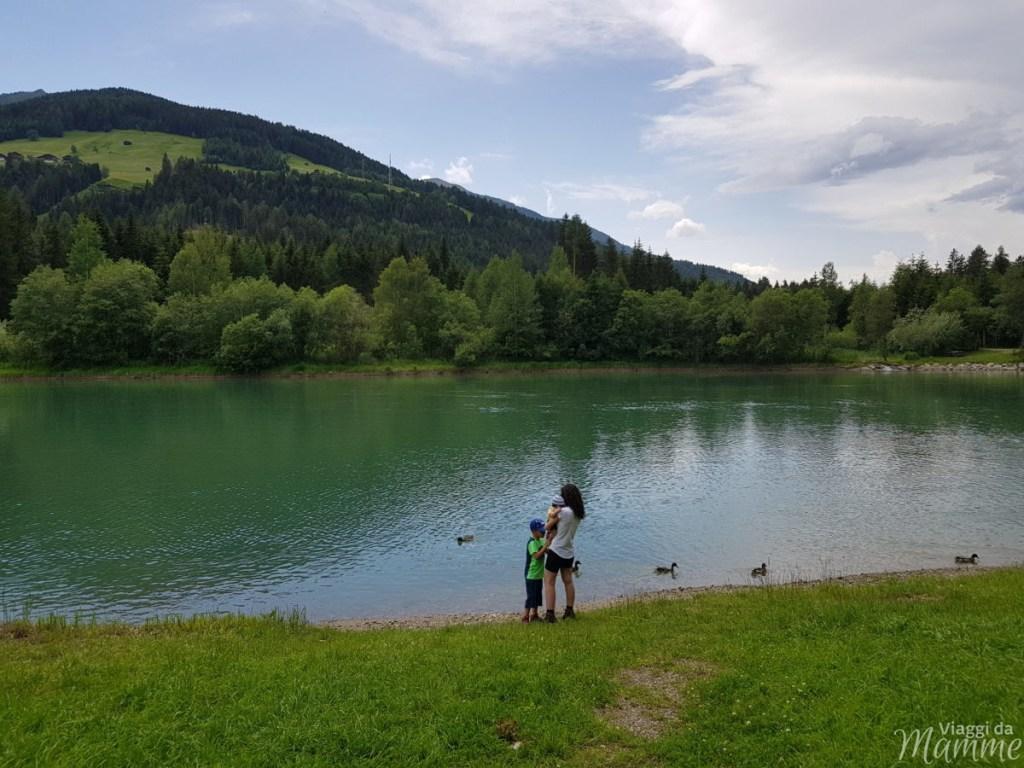 Alta Val Pusteria con bambini cosa fare e cosa vedere -Lago artificiale di Tassenbach-