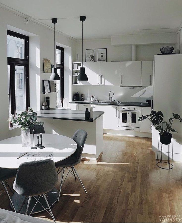 Come scegliere la cucina ideale -cucina composizione penisola- Fonte Pinterest