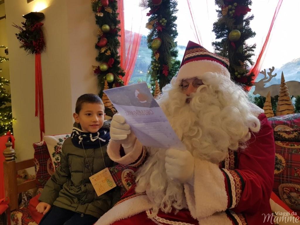 Andrea e Babbo Natale a Palazzo Ginami, Gromo