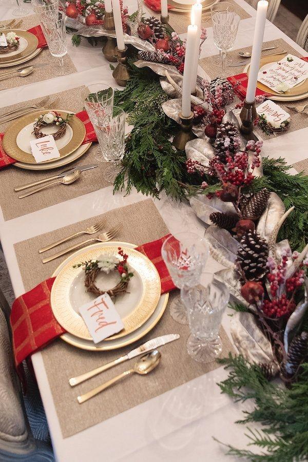 Tavola di Natale della tradizione -Foto fonte Pinterest-