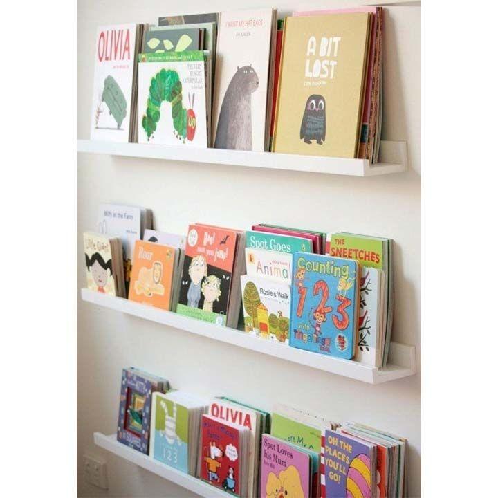 Mensole poco profonde per libri effetto biblioteca