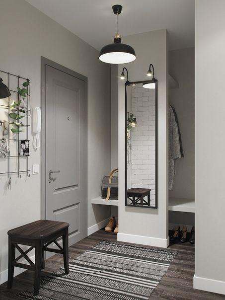 Come arredare l'ingresso di casa: 10 soluzioni -ingresso con muro dietro la porta-