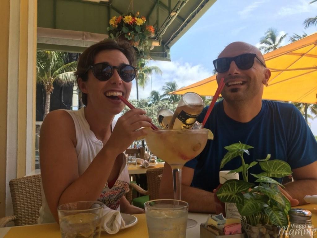 Viaggio in Colombia con bambini lungo la costa caraibica -pranzo in Ocean Drive