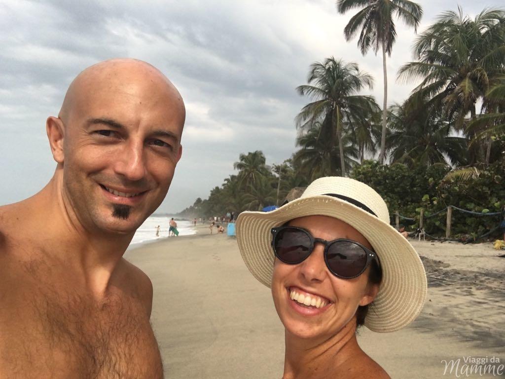 Viaggio in Colombia con bambini lungo la costa caraibica -La spiaggia di Palomino