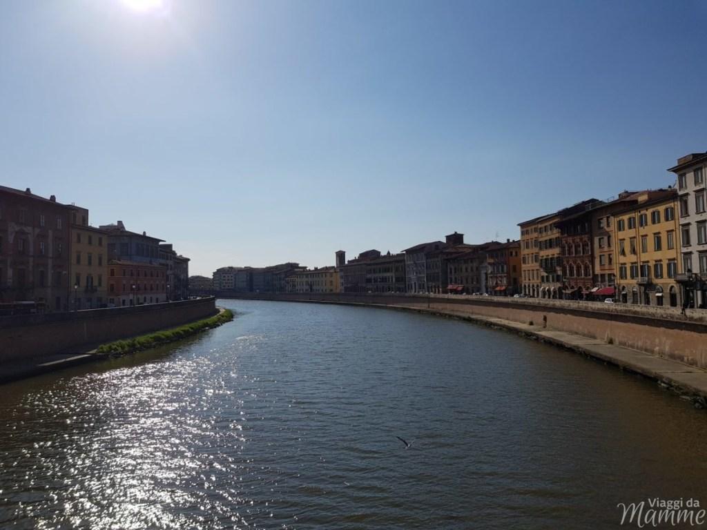 Cosa visitare a Pisa in un giorno con bambini - A sinistra il Lungarno Gambacorti