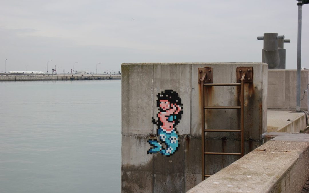 Un tour per l'invasione di Ravenna di Space Invader