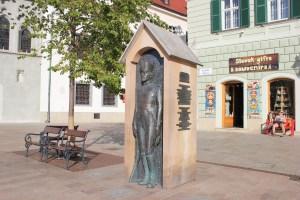 statue di Bratislava, il soldato nella guardiola