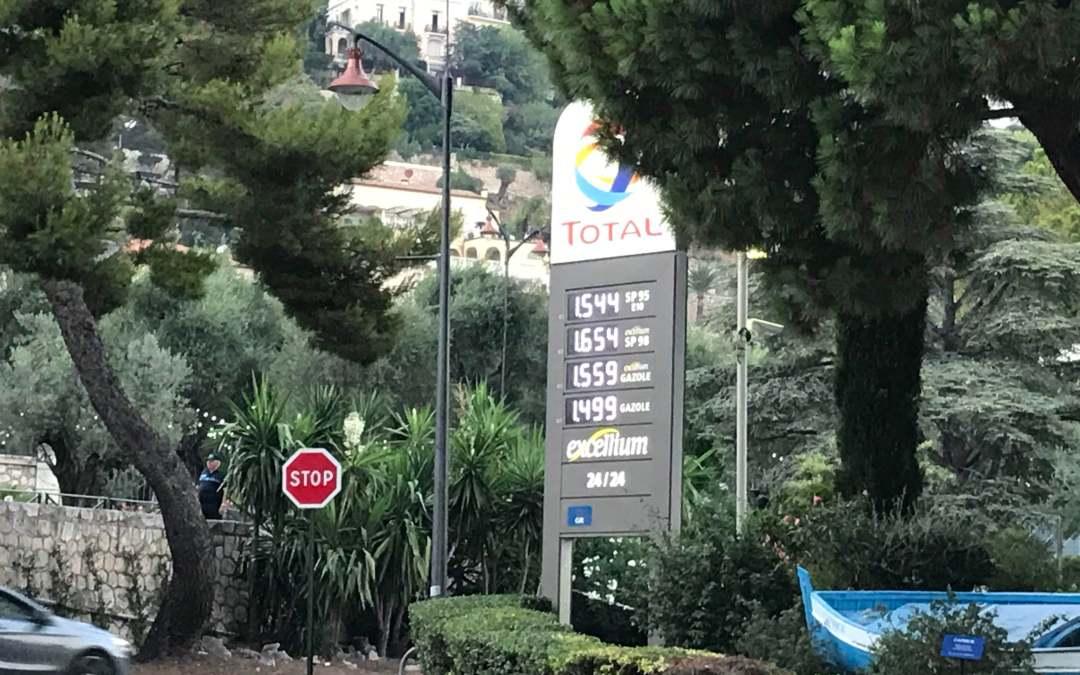 Il prezzo della benzina in Francia