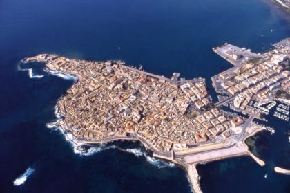 Veduta aerea di Ortigia