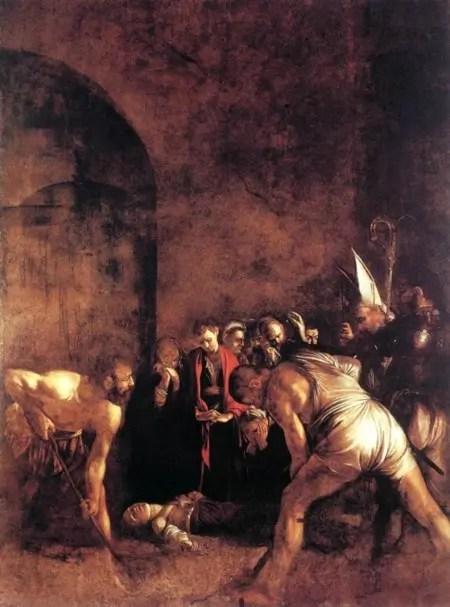 Caravaggio, Seppellimento di S. Lucia