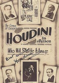 Manifesto di Harry Houdini