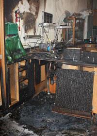 Incendio nel Laboratorio di Butler