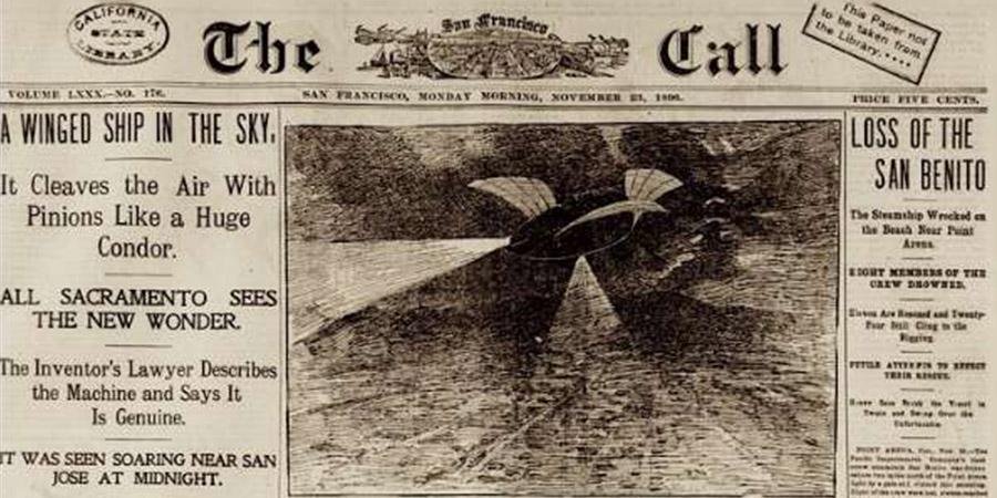 Oggetti volanti non identificati nell'Ottocento