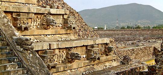 Teotihuacan - Tempio di Quetzalcoatl
