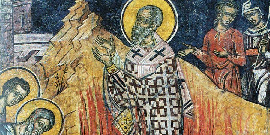 San Policarpo e il miracolo sul rogo