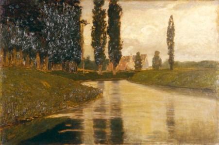 Pietro Fragiacomo, Armonie Verdi, 1920, olio su tela, cm 78,5 x 117,5, Fondazione Cariplo
