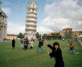 Martin Parr, ITALY. Pisa. The Leaning Tower of Pisa. From 'Small World'. 1990.