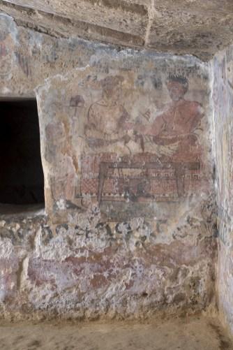Tarquinia (VT) Tomba degli Scudi prima dei restauri (Foto Domenico Ventura)