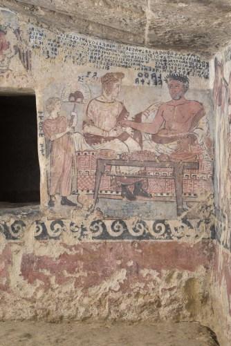 Tarquinia (VT) Tomba degli Scudi dopo i restauri (Foto Domenico Ventura)