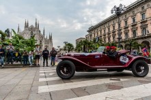 "Giovanni Moceri and Daniele Bonetti on Alfa Romeo 6C1500 Super Sport (1928). Piazza Duomo, Milano, May 2018. Nikon D810, 20 mm (20 mm ƒ/1.8) 1/160"" ƒ/8 ISO 200"