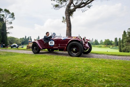 "Juan Tonconogy and Barbara Ruffini (RA) on Alfa Romeo 6C 1500 Gran Sport ""Testa Fissa"" (1933), winners of the 2018 Mille Miglia race. Nikon D810, 24 mm (24 mm ƒ/1.4) 1/100"" ƒ/5 ISO 64"