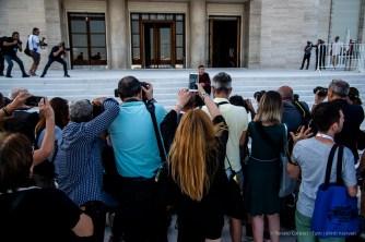 Photo-call per Michele Riondino, di fronte al Plazzo del Casinò al Lido di Venezia