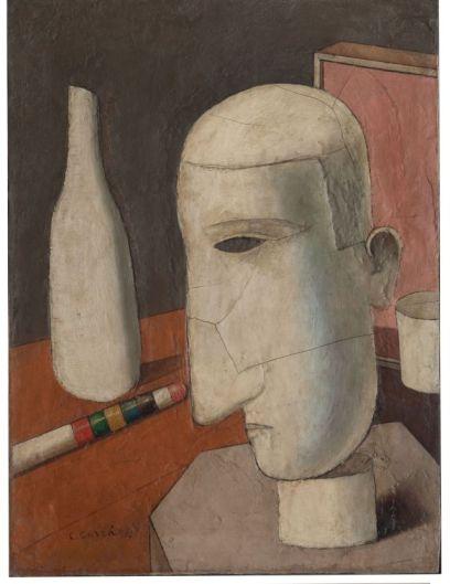 Carlo Carrà, Gentiluomo Ubriaco (1916) Olio su tela, cm 60 x 45 Collezione privata