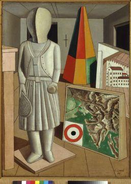 Carlo Carrà La musa metafisica, 1917 Olio su tela, cm 90 x 66 Milano, Pinacoteca di Brera